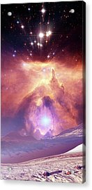 Alien Planet And Nebula Acrylic Print by Nasa, Esa And Jes�s Ma�z Apell�niz (instituto De Astrof�sica De Andaluc�a, Spain)/detlev Van Ravenswaay