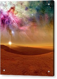 Alien Planet Forming In Orion Acrylic Print
