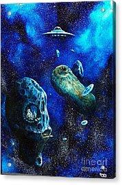 Alien Space Hideout Acrylic Print by Murphy Elliott