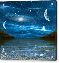 Alien Waterscape Acrylic Print by Brian Wallace