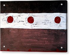 Alignment Original Painting Acrylic Print by Sol Luckman