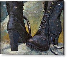 Ali's Boots Acrylic Print