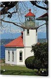 Acrylic Print featuring the photograph Alki Lighthouse by E Faithe Lester