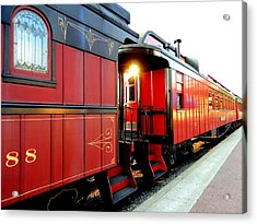 All Aboard Acrylic Print by Mary Beth Landis