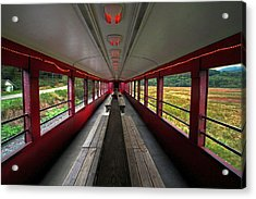 Acrylic Print featuring the photograph All Aboard Tioga Central Railroad by Suzanne Stout