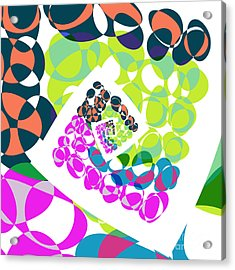 All About Dots - 061 Acrylic Print by Variance Collections