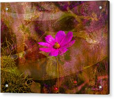Acrylic Print featuring the digital art All Alone by J Larry Walker