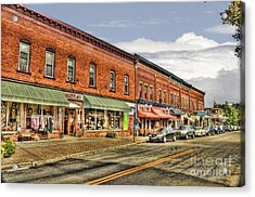 All Along Main Street Acrylic Print