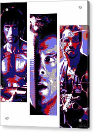 All-american 80's Action Movies Acrylic Print by Dale Loos Jr