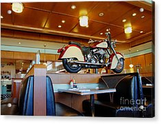 All American Diner 4 Acrylic Print by Bob Christopher