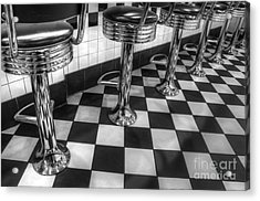 All American Diner Acrylic Print by Bob Christopher