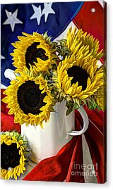 All American Sunflowers Acrylic Print