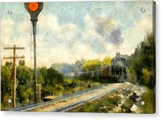 All Clear On The Pere Marquette Railway  Acrylic Print by Michelle Calkins