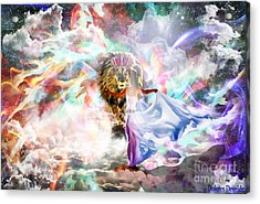 All Consuming Fire Acrylic Print by Dolores Develde
