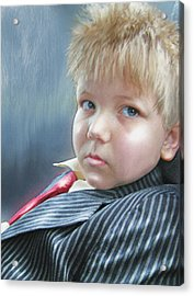 All Dressed Up And Ready For Mischief Acrylic Print by Jane Schnetlage