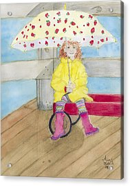 All Dressed Up And Ready For Rain Acrylic Print