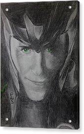 All Hail Loki Acrylic Print by Jaedin Always