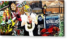 All Hail New Orleans Acrylic Print by Alonzo Butler
