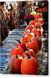 All  In A Row  Acrylic Print by Rick Todaro