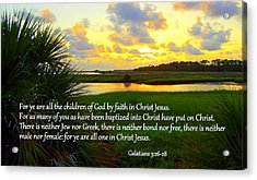 All One In Christ Jesus Acrylic Print
