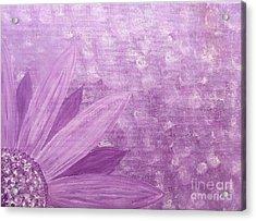 All Purple Flower Acrylic Print