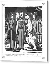 All Right, Men, You Know The Rules As Well Acrylic Print by Peter Arno