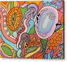 Acrylic Print featuring the painting All Seeing Egg Salad by Barbara St Jean