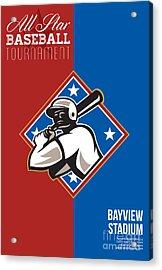 All Star Baseball Tournament Retro Poster Acrylic Print by Aloysius Patrimonio