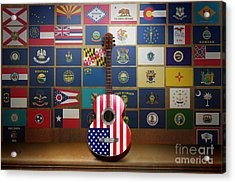 All State Flags Acrylic Print by Bedros Awak