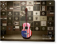 All State Flags - Retro Style Acrylic Print by Bedros Awak