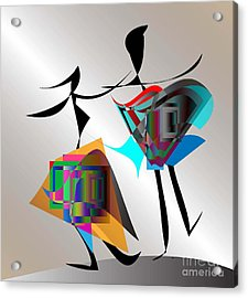 All That Jazz Acrylic Print by Iris Gelbart