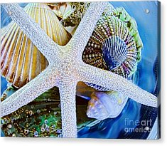 All The Colors Of The Sea Acrylic Print