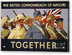 All The Commonwealth Countries Unite. Acrylic Print by Paul Fearn