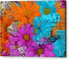 All The Flower Petals In This World 2 Acrylic Print by Kume Bryant