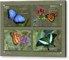 All Things Collage Acrylic Print by Karen Stephenson