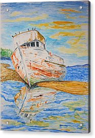 All Washed Up Acrylic Print by Paul Morgan