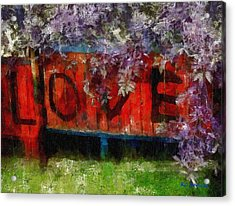 All You Need Is... Acrylic Print by RC deWinter