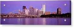 Allegheny River Pittsburgh Pa Acrylic Print by Panoramic Images