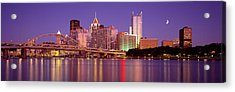 Allegheny River, Pittsburgh Acrylic Print by Panoramic Images