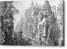 Allegorical Frontispiece Of Rome And Its History From Le Antichita Romane  Acrylic Print by Giovanni Battista Piranesi