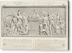 Allegorical Sculpture, The Belgian Revolution In 1830 Acrylic Print by Carel Christiaan Anthony Last And Desguerrois Co.