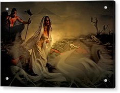 Acrylic Print featuring the digital art Allegory Fantasy Art by Galen Valle