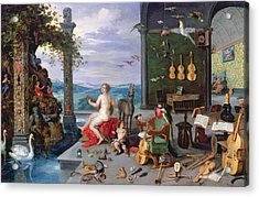 Allegory Of Music Oil On Canvas Acrylic Print