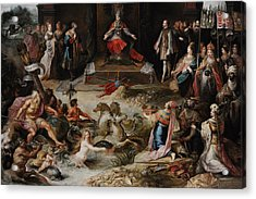 Allegory Of The Abdication Of Emperor Charles V In Brussels, C.1630-1640, By Frans Francken Acrylic Print