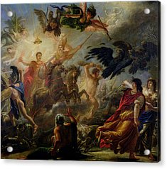 Allegory Of The Battle Of Austerlitz, 2nd December 1805 Oil On Canvas Acrylic Print by Antoine Francois Callet