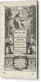 Allegory Of The Hebrew Bible, Print Maker Abraham Dircksz Acrylic Print