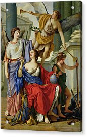 Allegory Of The Regency Of Anne Of Austria 1601-66 1648 Oil On Canvas Acrylic Print