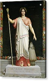 Allegory Of The Republic, 1848 Oil On Canvas Acrylic Print