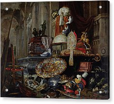Allegory Of The Vanities Of The World, 1663 Oil On Canvas Acrylic Print by Pieter or Peter Boel