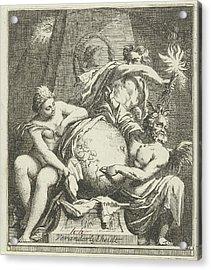 Allegory Of Variability, Arnold Houbraken Acrylic Print by Arnold Houbraken